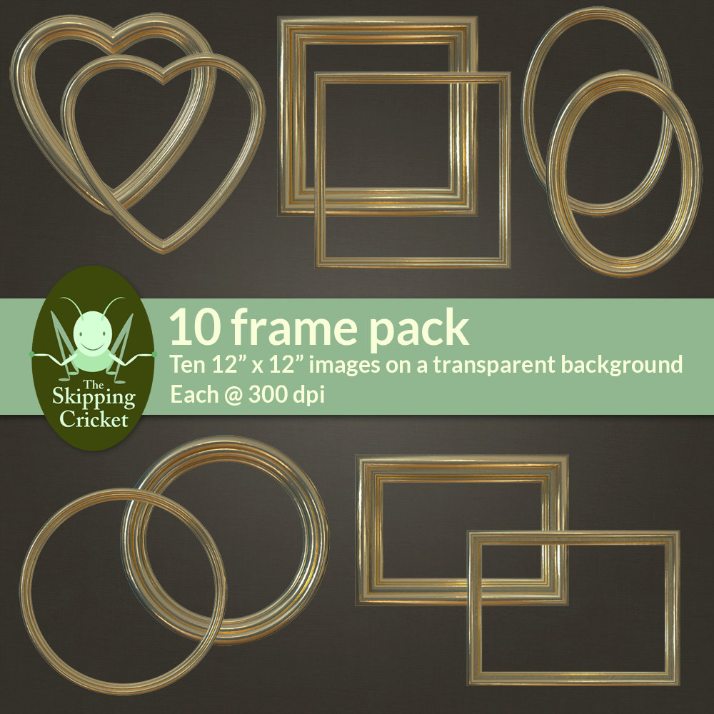 New Gilded gold digital picture frames – gold digital borders – gold  CK77