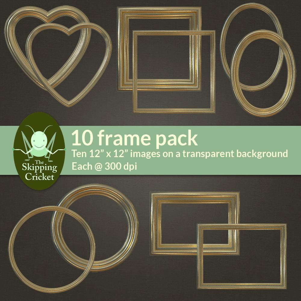Gilded gold digital picture frames – gold digital borders – gold ...